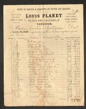 """TOULOUSE (31) BAZAR QUINCAILLERIE / PAPIERS à CIGARETTES """"Louis PLANET"""" en 1907"""