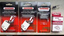 Janome Nähfüße und Stickfüße für alle Janome Nähmaschinen und Stickmaschinen
