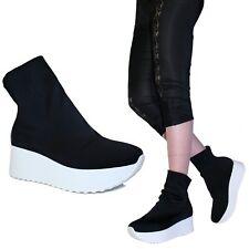 Scarpe Donna Sneakers Ginnastica Calzino Calza Elasticizzato Ginnastica Pale C01