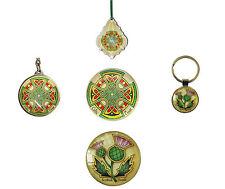 Scottish thistle, Celtic cross keyring magnet ornament key chain keychain