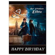 G387; personalizzato compleanno carta di grandi dimensioni; qualsiasi nome; fantastico BESTIE Harry Potter