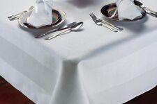 Blanc 100% coton égyptien table chiffon-satin bande damas-dîner linge de table