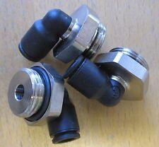 "Set of 3 Legris 8mm Tube 1/2""BSP Elbow Push In Pneumatic Fittings 3199 08 21"