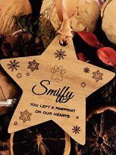 Ornamento del árbol de Navidad del animal doméstico Memorial Recuerdo Personalizado en memoria de Pet