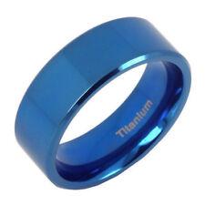 Anywors Lord of the Rings Elvish Blue Anniversary Titanium Wedding Ring AB086