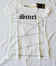 """Christian Audigier SMET Women T-Shirt White """"Born on Street"""" Live Forever"""