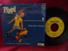Pippi Langstrumpf geht an Bord 1 - Pippi geht einkaufen rare 7 inch Philips 45