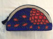 Beaded Clutch Evening Handbag Purse Abstract Art beaded on bag ARTIST SIGNED