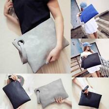Evening Large Tote Envelope Bag PU Leather Women Clutches Handbag NEW - FI