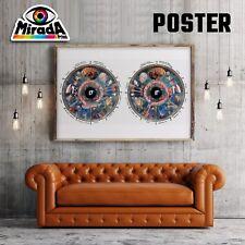 POSTER OCCHI IRIDOLOGIA MAPPA  BENESSERE ORGANI CARTA FOTOGR. 35x50 50x70 70x100