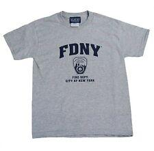 FDNY Mens Gray Short Sleeve Screen Print T-Shirt