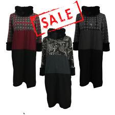 AMAVISSE UK - (RRP £30) Fashion Textured Jumper Sweater Dress Long Sleeves Fur