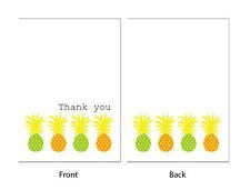 carte de remerciements –' Ananas' 24 x A6 - Très tropical, fêtes, Marriage