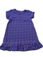 fille coton à pois robe violette 12-18 18-24 mois 2-3 3-4 4-5 5-6 6-7 ans