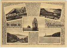 UN SALUTO DA VULCANO - VEDUTINE - LIPARI (MESSINA) 1952