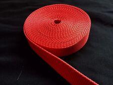 "1 Inch Width Nylon Webbing - Red strap ( 1"" Width Heavy Nylon )"