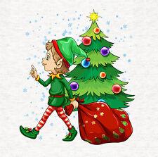 Elf, Santa's Helper Noël, Tissu Coussin/Brosse Craft Panel