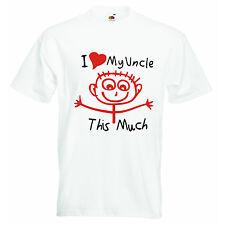 J'aime Ma Oncle This Much Personnalisé Bébé Garçons Filles T-shirt T-shirts