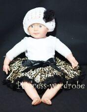 NewBorn Black Leopard Baby Pettiskirt Skirt Tutu 3-12M