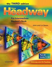 Oxford NEW HEADWAY Pre-Intermediate THIRD ED Student's Book Part B | Soars @NEW@