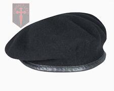 Alta Calidad Negro Ejército Británico Boina - Todos Los Tamaños - (