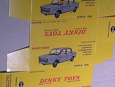 REFABRICATION BOITE SIMCA 1000 DINKY TOYS 1962