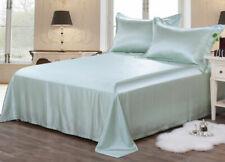 22MM Heavy Weight Silk Seamless Sheets Set Fitted Flat 4pcs Bedding Set