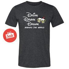 Disney Drink Drank Drunk Around The World Mens Shirt Disneyland Shirt