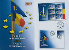 Rumänien 2017 Europäische Union,EU,Sterne,Flagen,Brancusi Mi.7175,TAB,KB,FDC
