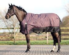 QHP Turnoutdecke mit Fleece, Outdoordecke Weidedecke Regendecke Paisley rot, neu