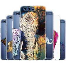 dessana Elefanten Abstrakt TPU Silikon Schutz Hülle Case Handy Tasche für Huawei
