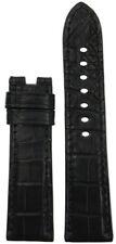 22x20 RIOS1931 for Panatime Black Alligator Watch Strap For Panerai Deploy