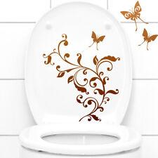 Wandtattoo Wandsticker Wandaufkleber Badezimmer WC Deckel Blumenranke 1085W