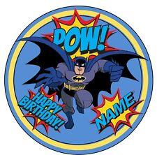 "EDIBLE Batman Birthday Party Cake Topper Wafer Paper 7.5"" (uncut)"