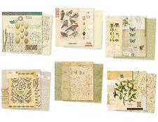 7 Gypsies Vintage Scrapbook Paper 2p 2s BINGO Card Ticket Epicurean Santa Label