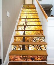 3D Herbst Wald 39 Stair Risers Dekoration Fototapete Vinyl Aufkleber Tapete DE