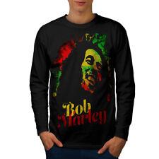 Marley Bob Weed Rasta Men Long Sleeve T-shirt NEW   Wellcoda