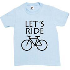 Let's ride cycle vélo vélo enfants garçons / filles t-shirt