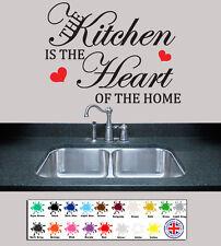 El arte de pared calcomanía citar-Cocina es el corazón de casa, mural de vinilo Calcomanía decoración