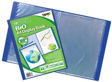 A4 10 Pocket Bio Display Book Presentation Quality Folder Portfolio Tiger 301762