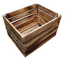 NEUE Geflammte Holzkisten Obstkisten Apfelkisten Weinkiste Regal Tisch 50x40x31