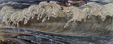 Neptune's Horses Walter Crane Vintage Print