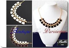 Statement Kette Collier  Halskette Emaille Gliederkette Spikekette Kragen Paris