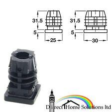 Hafele Black Square Plug m10 Internal Thread Castor Tube Raccord Multi-Thread Insert
