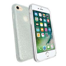 Apple iPhone 7 ULTRA -SOTTILE ARGENTO GLITTER Metallica Morbida Gel TPU SILICONE