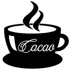 Sticker Cuisine Tasse de Cacao fumant, 18 coloris, 5 tailles (CUIS018)