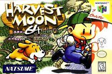 RGC Huge Poster - Harvest Moon 64 Nintendo 64 N64 BOX ART - N64022