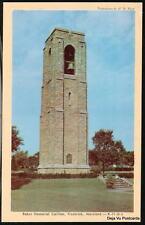 Frederick Md Joseph Dill Baker Memorial Carillon Vtg Pc