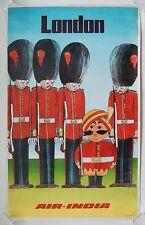 VINTAGE AIR INDIA vols pour Londres compagnie Poster A3 imprimer