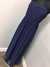 TFNC WEDDING Bandeau Chiffon Maxi Dress RRP £45 (AS15/23)